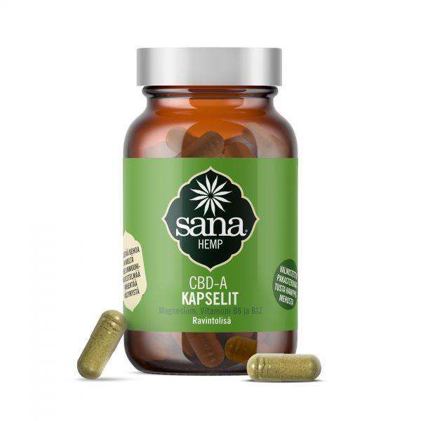 Sana Hemp® CBDa capsules, Magnesium & Vit B6 + B12